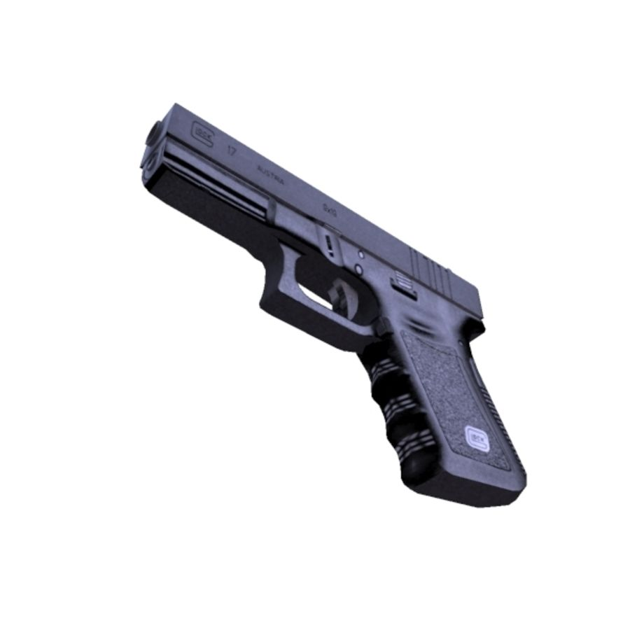 Glock 17 royalty-free 3d model - Preview no. 4