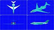 センチネル監視航空機ソリッドアセンブリモデル 3d model