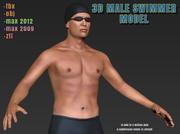 Modelo masculino do nadador 3d olímpico 3d model