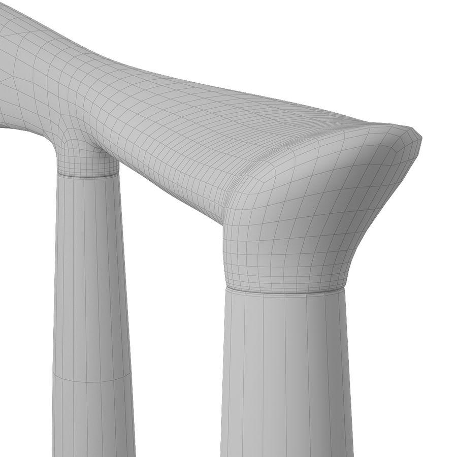 PP 501主席Hans J. Wegner royalty-free 3d model - Preview no. 11
