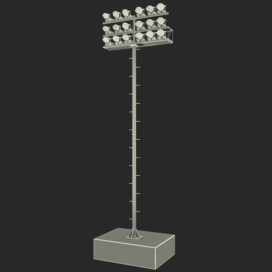 Stadium Lights 4 royalty-free 3d model - Preview no. 14