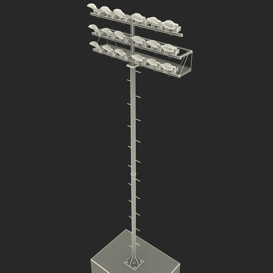 Stadium Lights 4 royalty-free 3d model - Preview no. 15