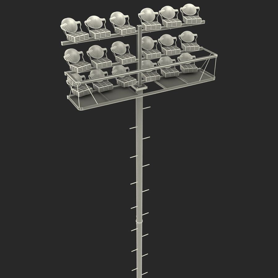 Stadium Lights 4 royalty-free 3d model - Preview no. 16