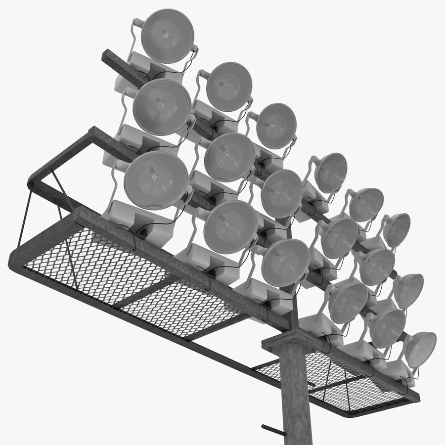 Stadium Lights 4 royalty-free 3d model - Preview no. 8