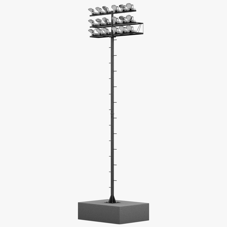 Stadium Lights 4 royalty-free 3d model - Preview no. 1