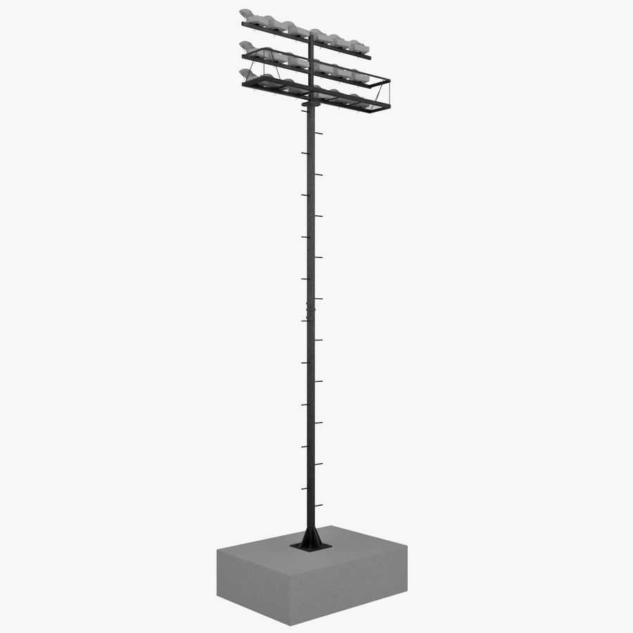Stadium Lights 4 royalty-free 3d model - Preview no. 4