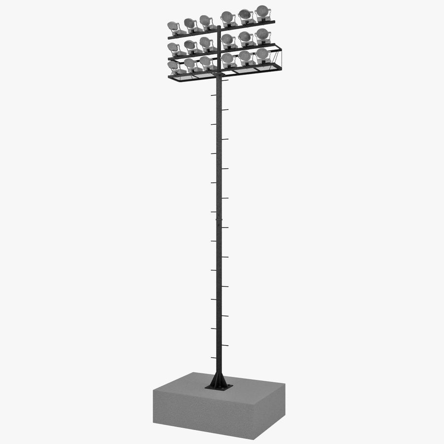 Stadium Lights 4 royalty-free 3d model - Preview no. 3