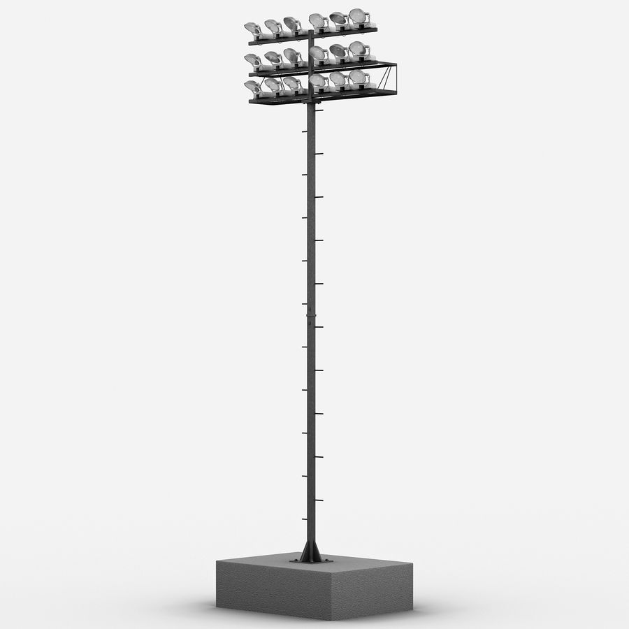 Stadium Lights 4 royalty-free 3d model - Preview no. 2