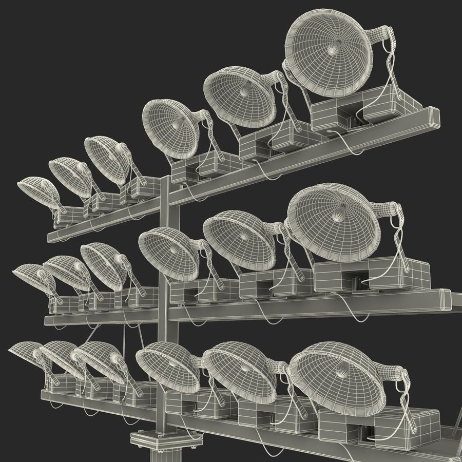 Stadium Lights 4 royalty-free 3d model - Preview no. 19