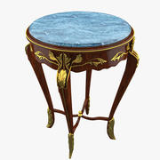 Classical Antiquarian Round Little Table 3d model