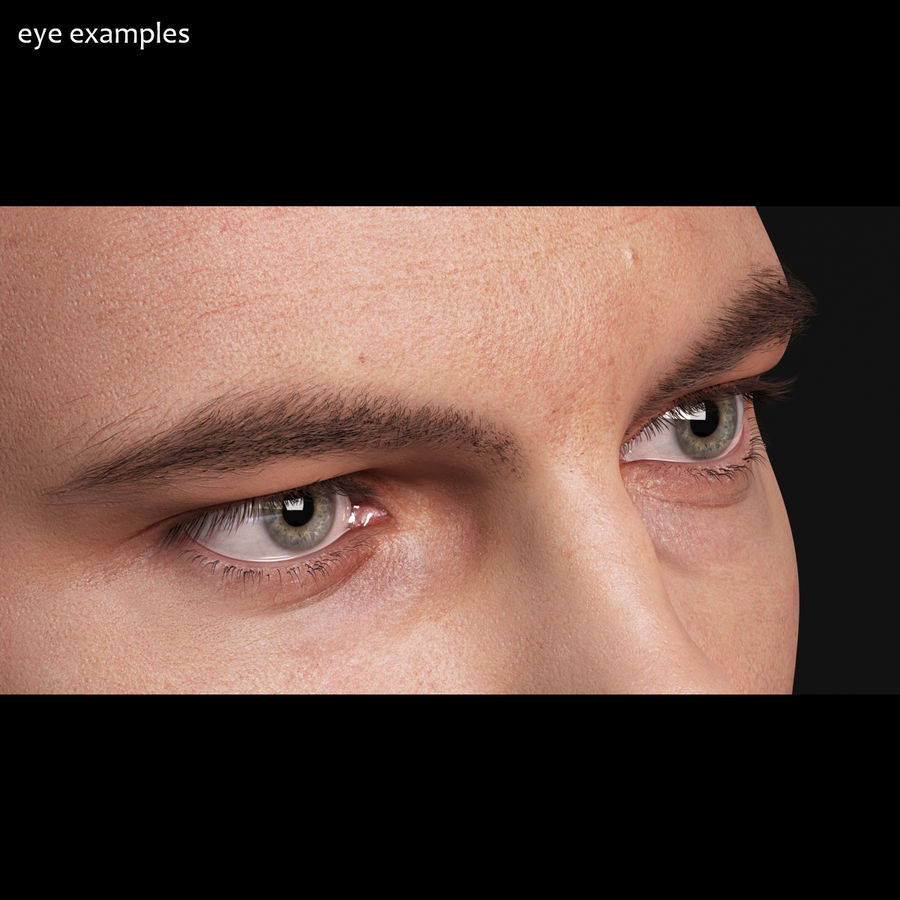 Realistic Human Eye - Lite royalty-free 3d model - Preview no. 5