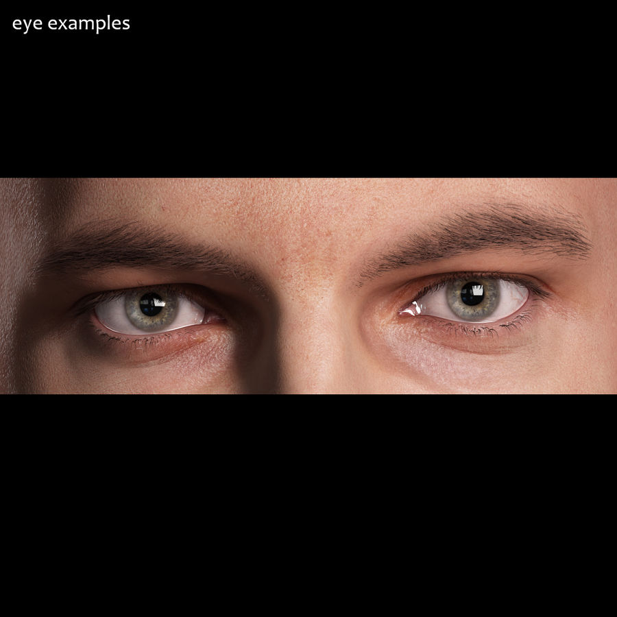 Realistic Human Eye - Lite royalty-free 3d model - Preview no. 4