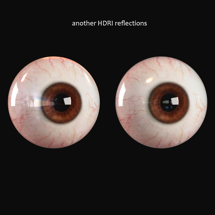 Realistic Human Eye - Lite royalty-free 3d model - Preview no. 12