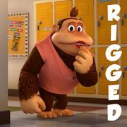 Maya Gorilla 3D character rigged 3d model