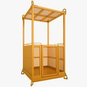 Panier de grue de cage 3d model