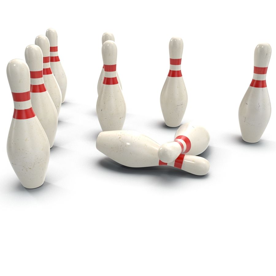 Bowling Pins royalty-free 3d model - Preview no. 6