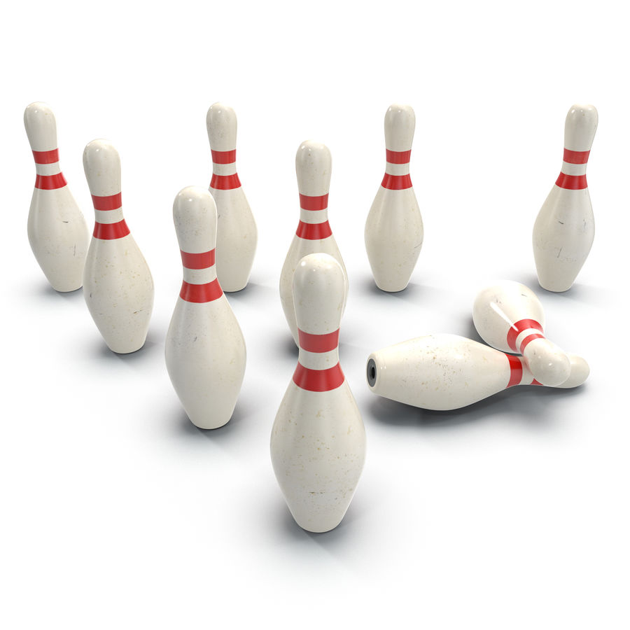 Bowling Pins royalty-free 3d model - Preview no. 5