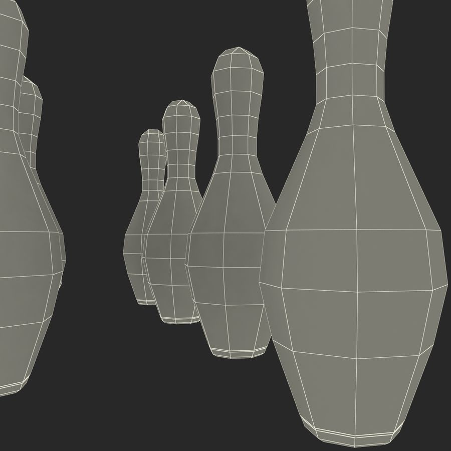 Bowling Pins royalty-free 3d model - Preview no. 18
