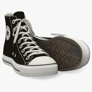 Converse All Star Sneakers 3d model