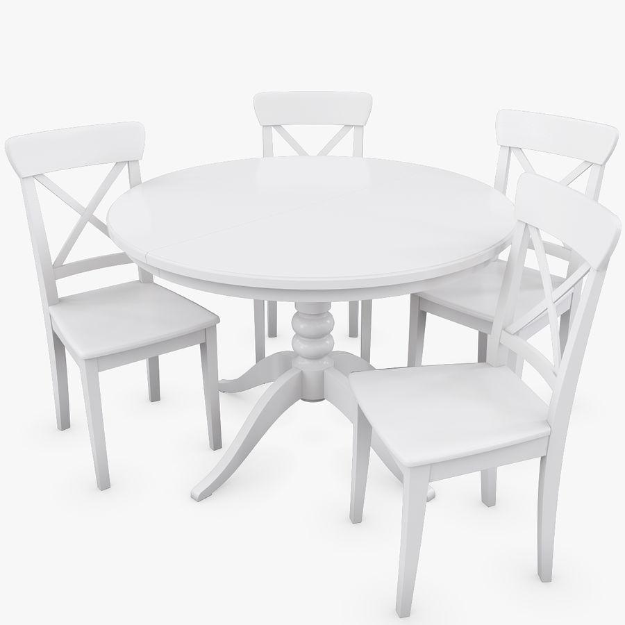 Conjunto de mesa IKEA Liatorp y sillas Ingolf. Modelo 3D $29 - .max ...