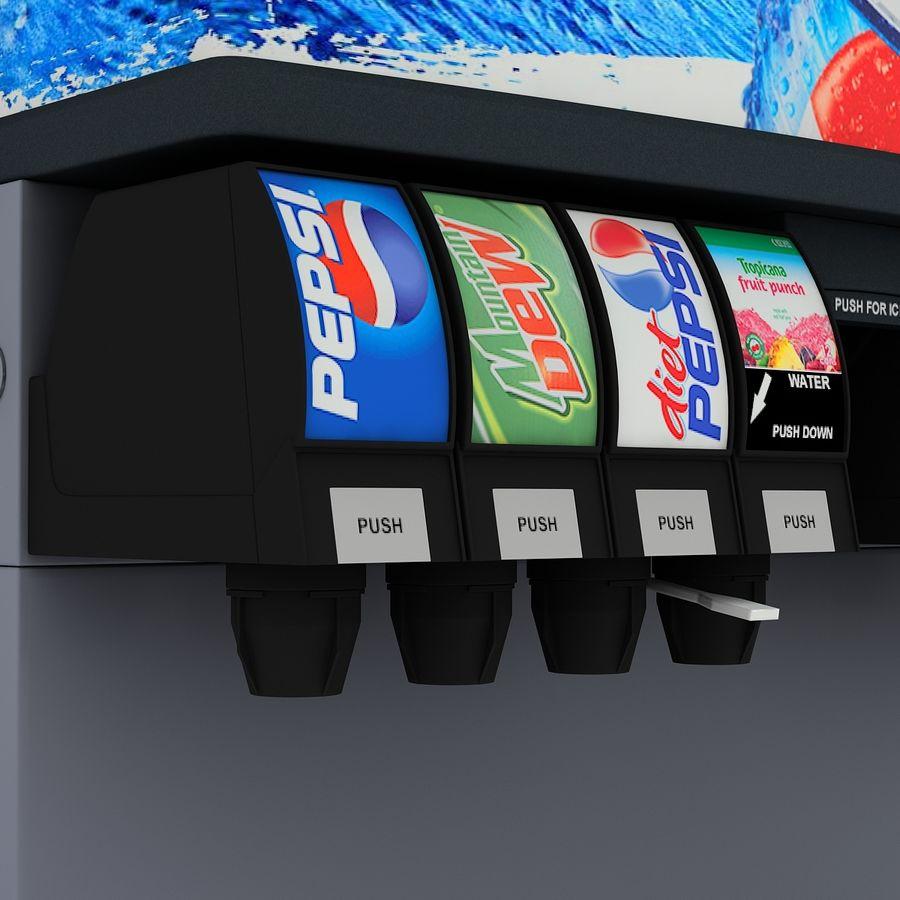 분수 음료 기계 royalty-free 3d model - Preview no. 9