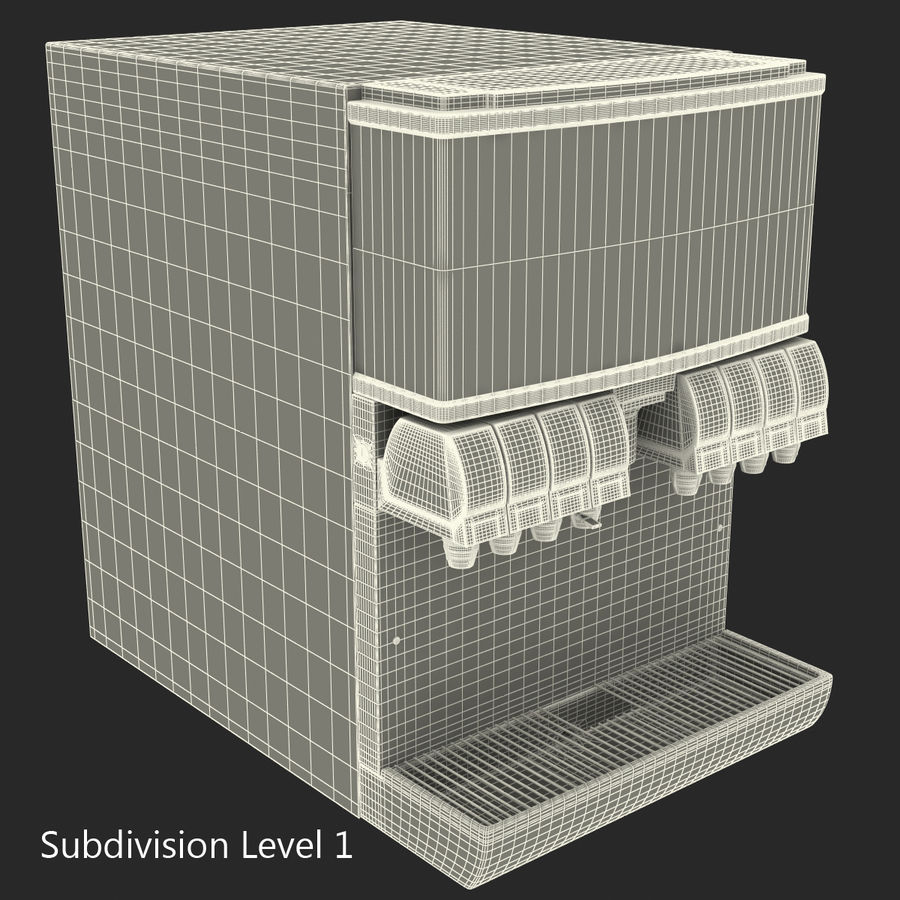 분수 음료 기계 royalty-free 3d model - Preview no. 21
