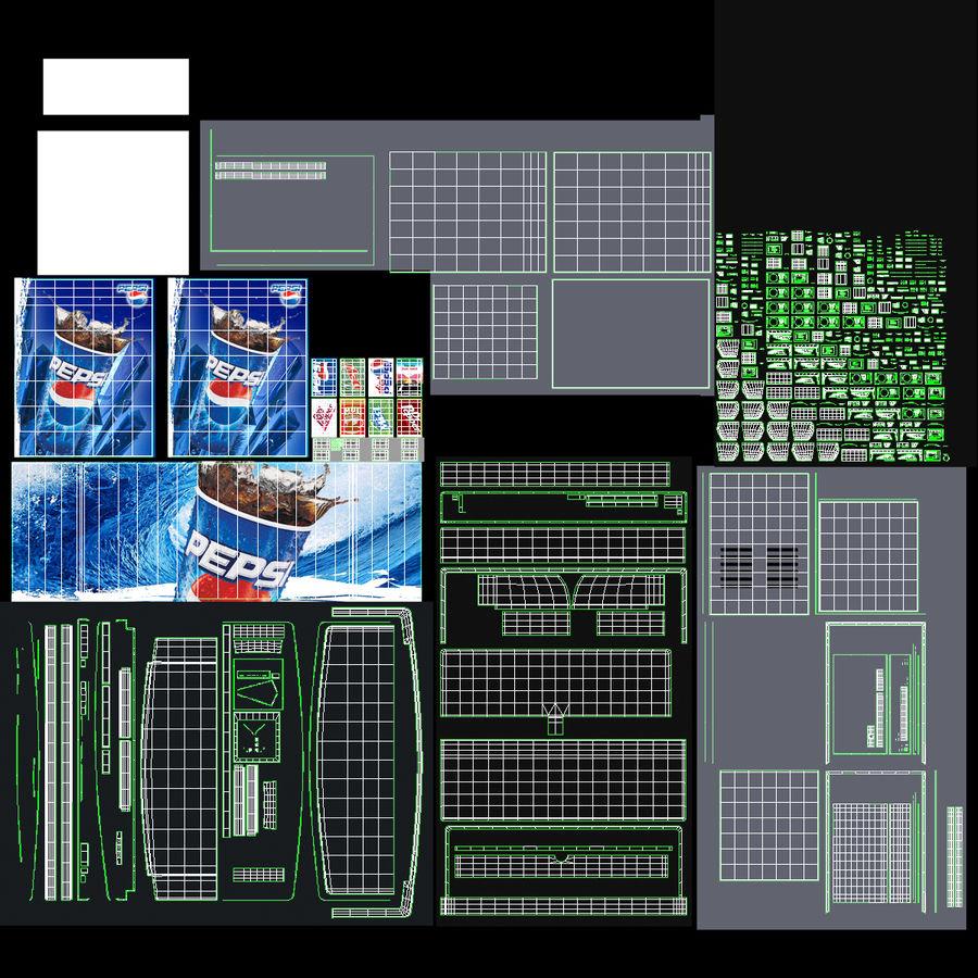 분수 음료 기계 royalty-free 3d model - Preview no. 22