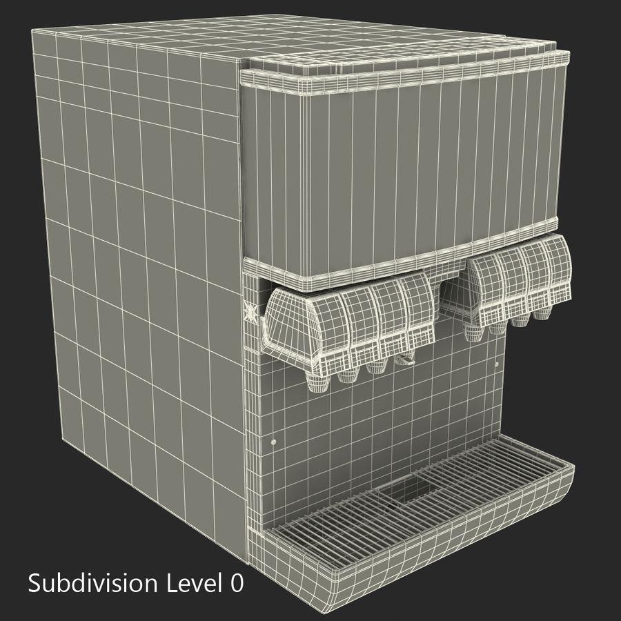 분수 음료 기계 royalty-free 3d model - Preview no. 20