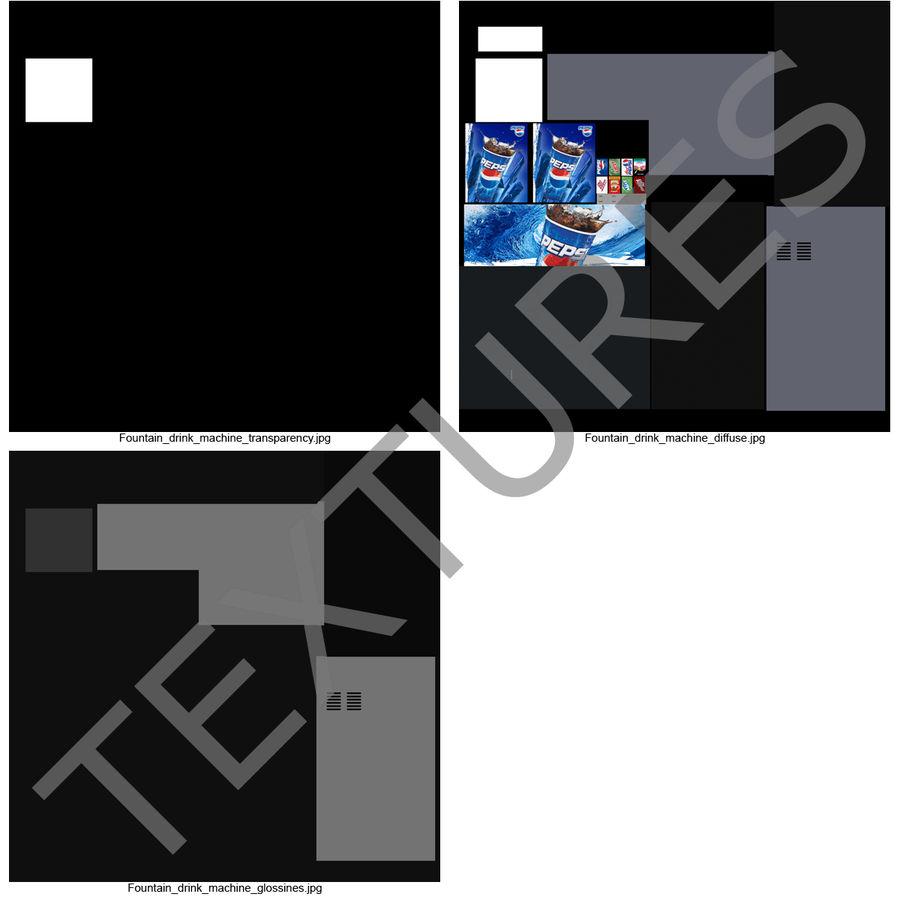 분수 음료 기계 royalty-free 3d model - Preview no. 23