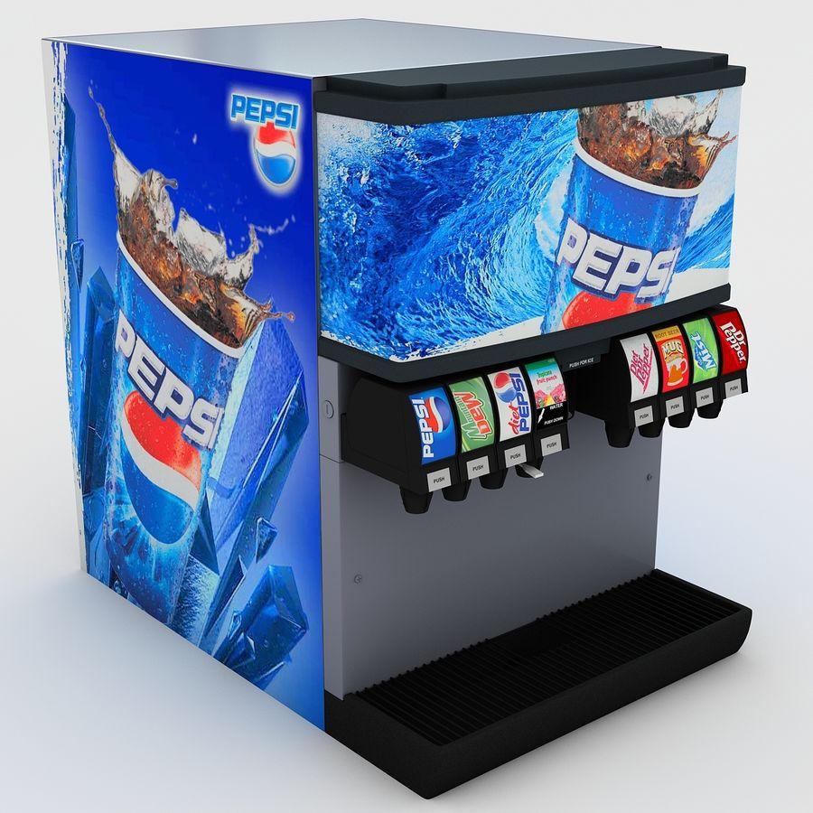 분수 음료 기계 royalty-free 3d model - Preview no. 3