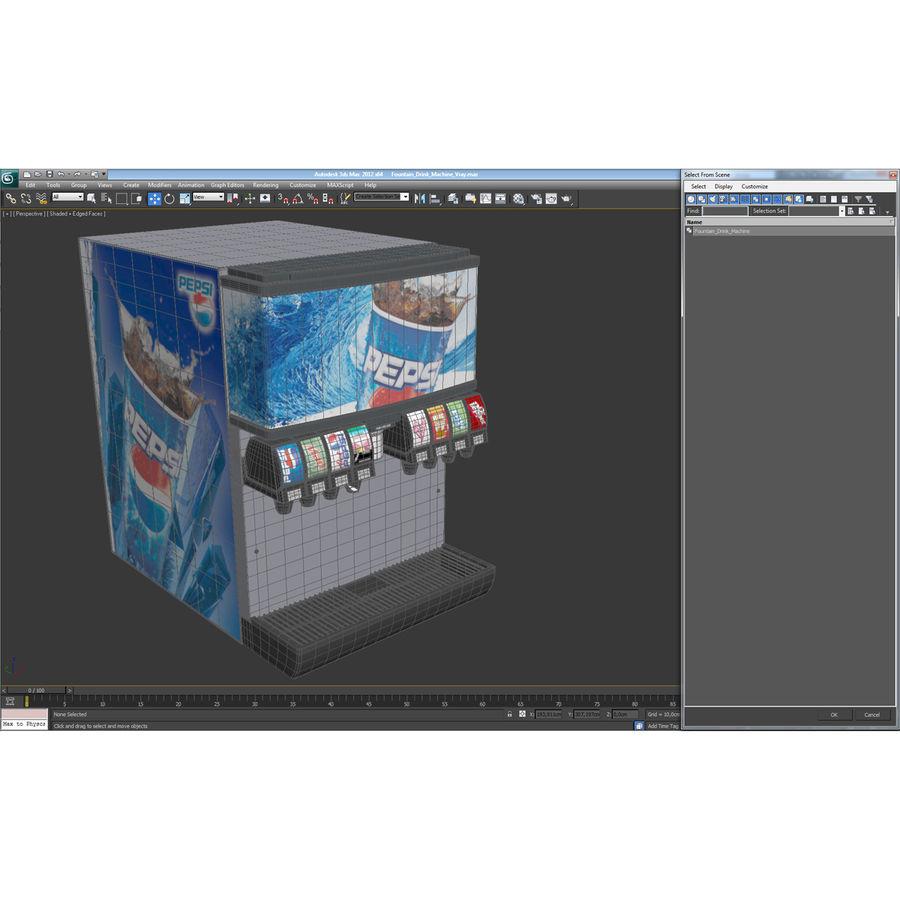분수 음료 기계 royalty-free 3d model - Preview no. 24