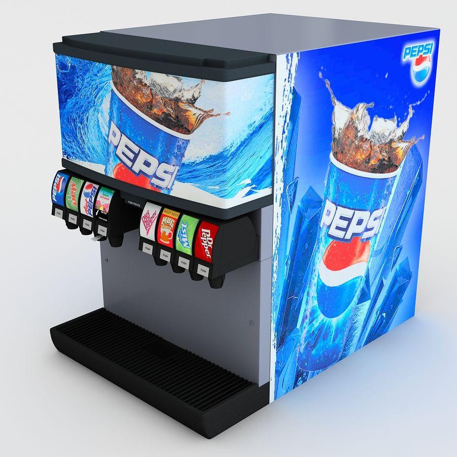 분수 음료 기계 royalty-free 3d model - Preview no. 4
