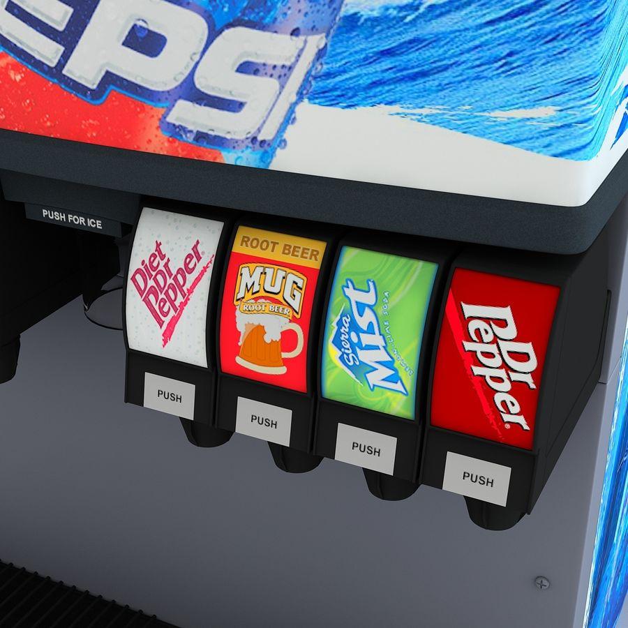 분수 음료 기계 royalty-free 3d model - Preview no. 10