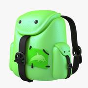 Рюкзак зеленый 3d model