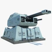 Sci-Fi Turret System 3d model