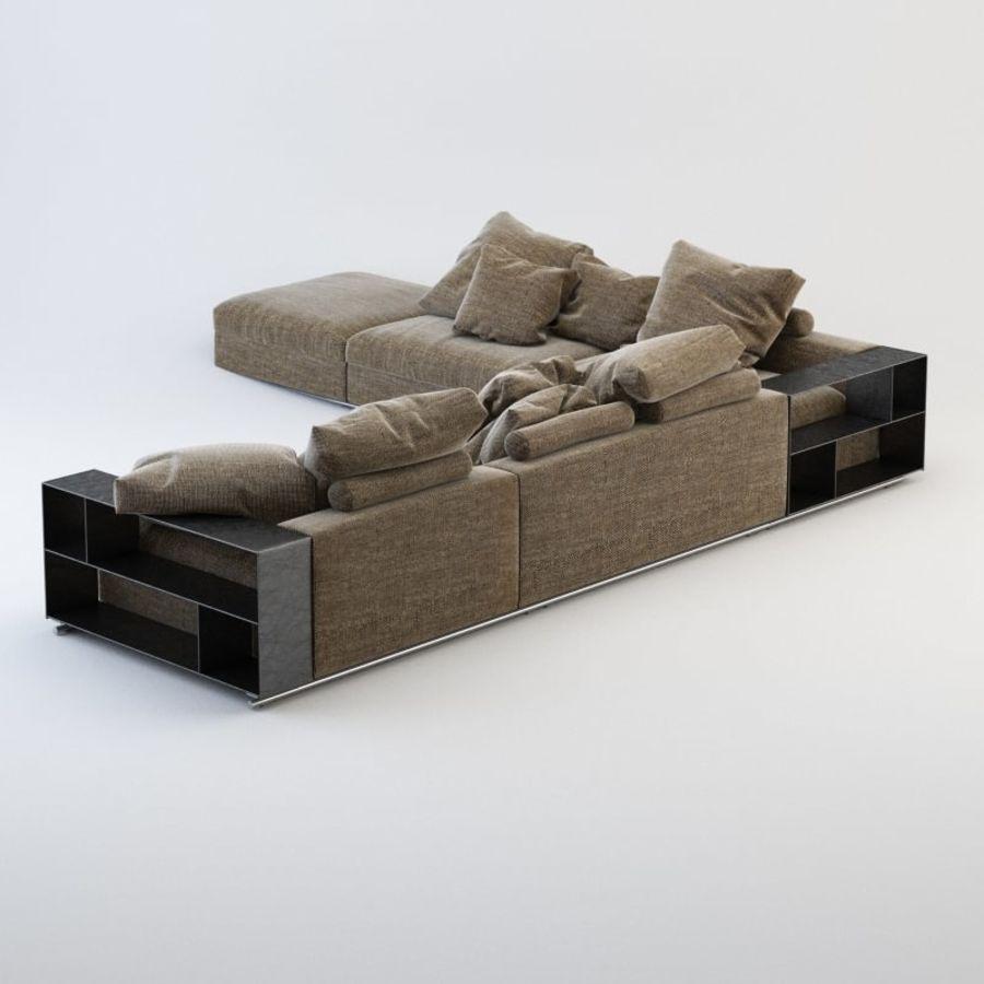 FLEXFORM Canapé de meuble royalty-free 3d model - Preview no. 3