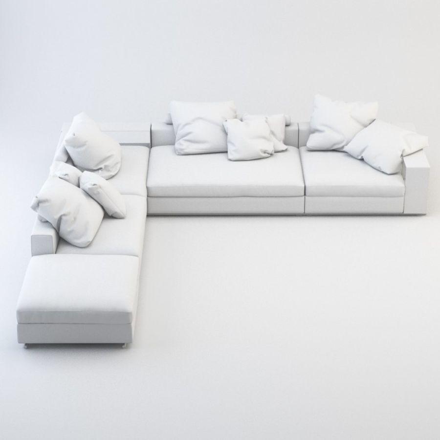 FLEXFORM Canapé de meuble royalty-free 3d model - Preview no. 5