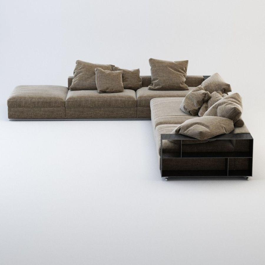 FLEXFORM Canapé de meuble royalty-free 3d model - Preview no. 2