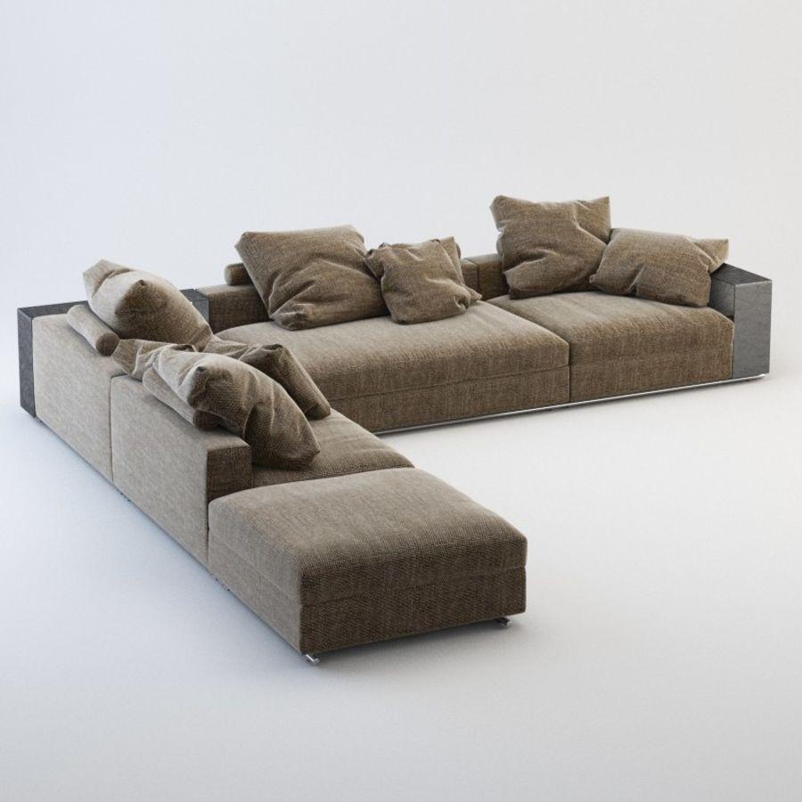 FLEXFORM Canapé de meuble royalty-free 3d model - Preview no. 1