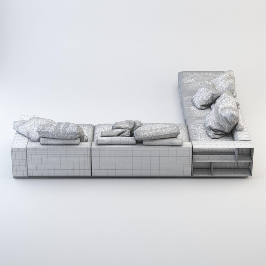 FLEXFORM Canapé de meuble royalty-free 3d model - Preview no. 7