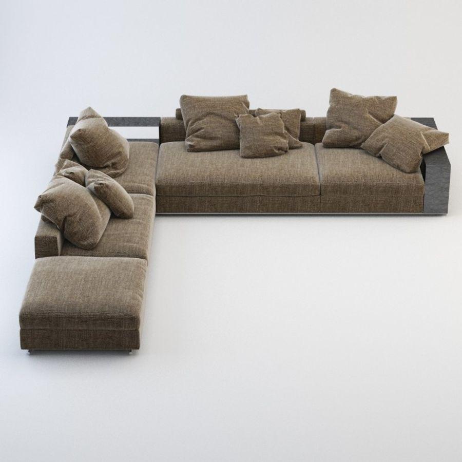 FLEXFORM Canapé de meuble royalty-free 3d model - Preview no. 4