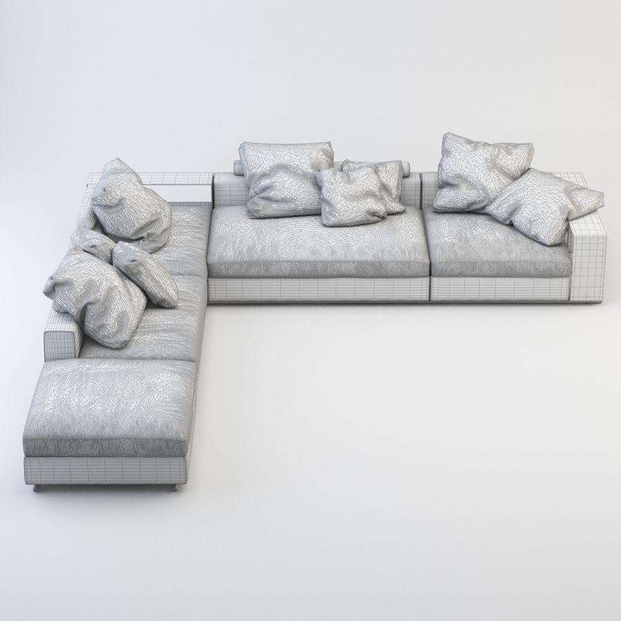 FLEXFORM Canapé de meuble royalty-free 3d model - Preview no. 6