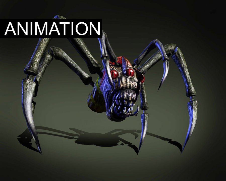 Monstr Spider royalty-free 3d model - Preview no. 1