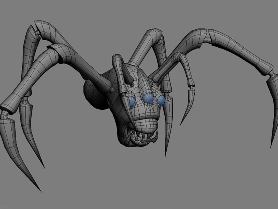 Monstr Spider royalty-free 3d model - Preview no. 5