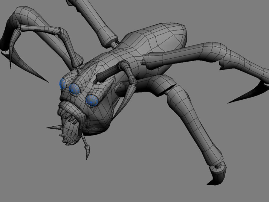 Monstr Spider royalty-free 3d model - Preview no. 7