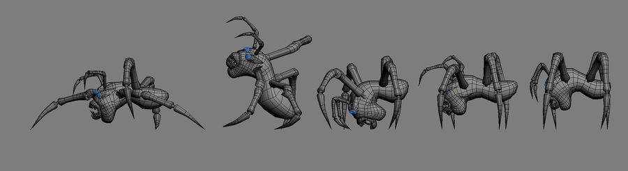 Monstr Spider royalty-free 3d model - Preview no. 6