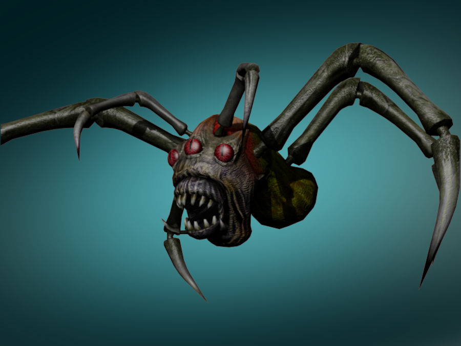 Monstr Spider royalty-free 3d model - Preview no. 3