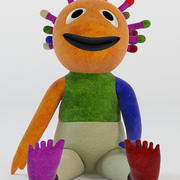 眨眼木偶玩具 3d model