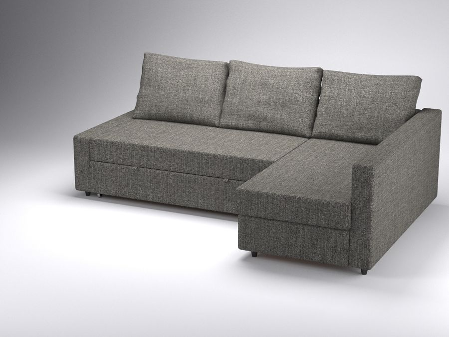 corner sofa bed friheten of ikea 3d model 40 obj fbx 3ds max free3d. Black Bedroom Furniture Sets. Home Design Ideas