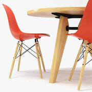 Vitra DSW Chair & Gueridon Table 3d model